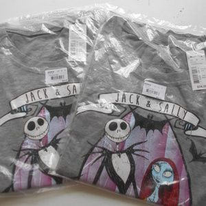 NEW! 2 Nightmare Before Christmas t shirts S